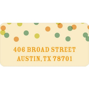 Green And Peach Bubbles -- Wedding Address Labels