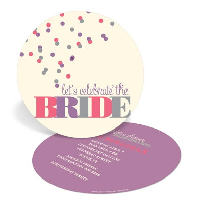 Pink and Purple Bubbles Bridal Shower Invitations