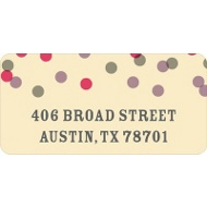 Pink And Purple Bubbles Wedding Address Labels