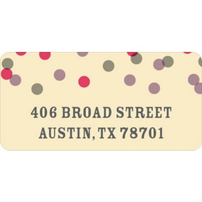 Pink And Purple Bubbles -- Wedding Address Labels