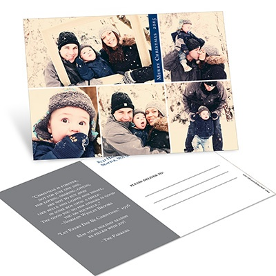 Five Photo Blocks Postcard Photo Christmas Cards