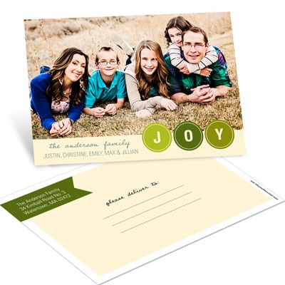 Bubbling with Joy Postcard Photo Christmas Cards