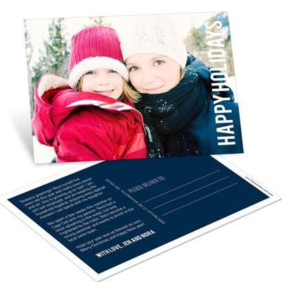 Big Greeting Postcard Photo Christmas Cards