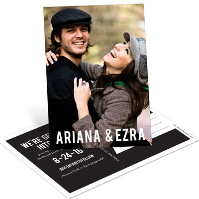 Oh You Two Vertical Save the Date Postcards