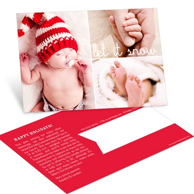 Holiday Verses Postcard Photo Christmas Cards