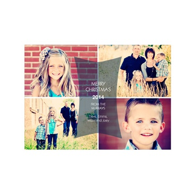 Photo Paper Modern Message Holiday Photo Cards