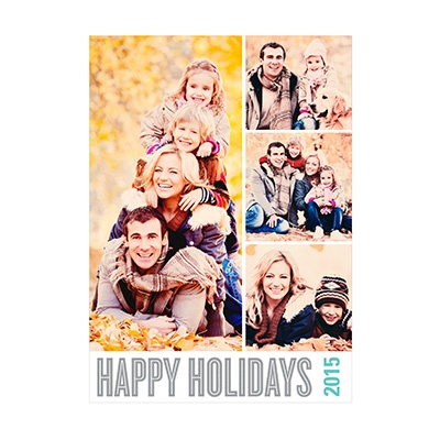 Photo Paper Stacked Photos Holiday Photo Cards