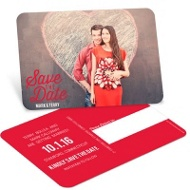 Say It Three Ways Save the Date Postcards