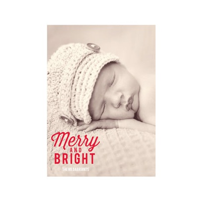 Photo Paper Favorite Carols Vertical Holiday Photo Cards