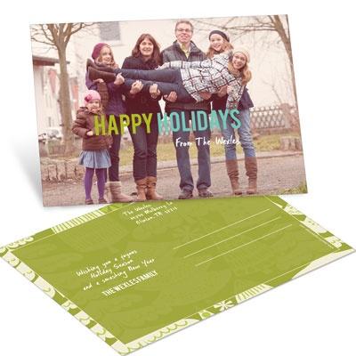 Vintage Treescape Postcard Photo Christmas Cards