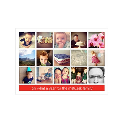 Photo Paper Snapshots Of A Year Holiday Photo Cards