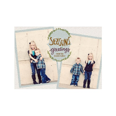 Photo Paper Falling Flakes Holiday Photo Cards