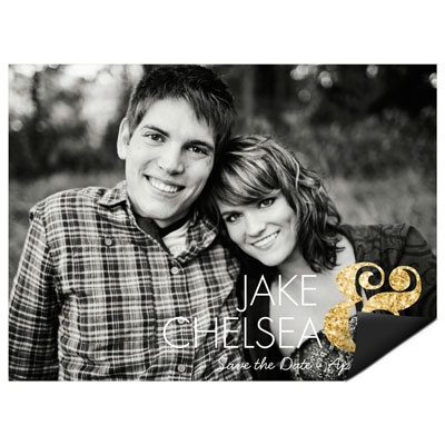 Glittery Ampersand Save the Date Magnets