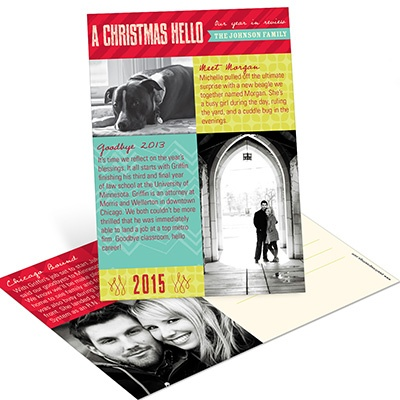 Photo Montage and Memories Postcard Photo Christmas Cards