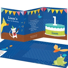 My Very Happy Birthday for Boys -- Kids Birthday Invitations