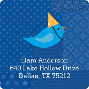 My Very Happy Birthday for Boys -- Address Labels