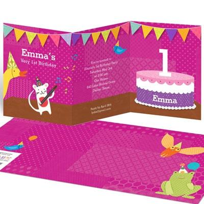 My Very Happy Birthday for Girls Kids Birthday Invitations
