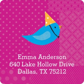 My Very Happy Birthday for Girls -- Address Labels