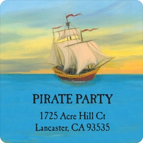 My Very Own Pirate Party -- Address Labels