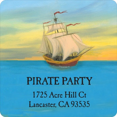 My Very Own Pirate Party Address Labels
