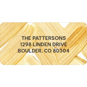 Golden Chevrons -- Christmas Address Labels