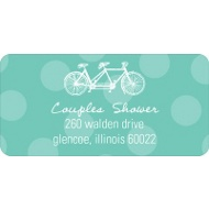 His & Hers Wedding Address Labels