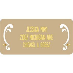 Romantic Filigree -- Wedding Address Labels