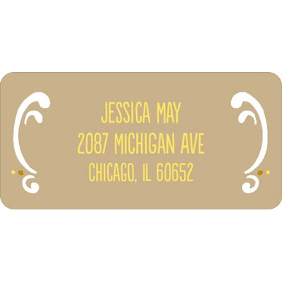 Romantic Filigree Wedding Address Labels