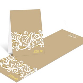Romantic Filigree -- Bridal Shower Thank You Cards