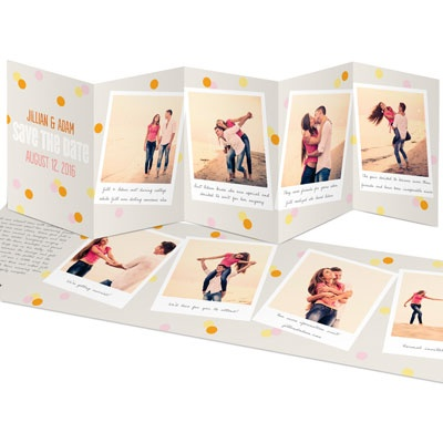 Confetti Snapshots Save the Date Cards
