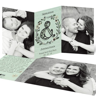 Romantic Trifold Save the Date Cards
