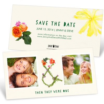 Say It With Flowers Save the Date Cards