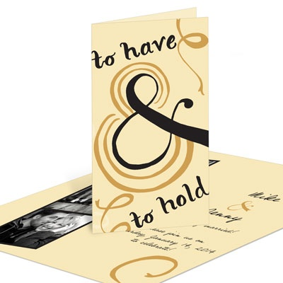 To Have & To Hold Photo Strip-- Save the Date Cards