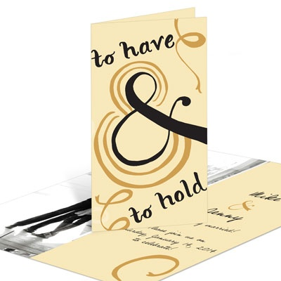 To Have & To Hold Single Photo Save the Date Cards