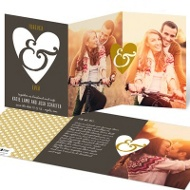 Forever & Ever Tri Fold Save the Date Cards