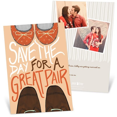 Great Pair Save the Date Cards