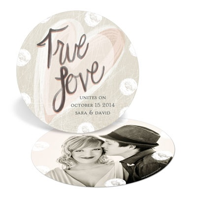 True Love Circle Save the Date Cards