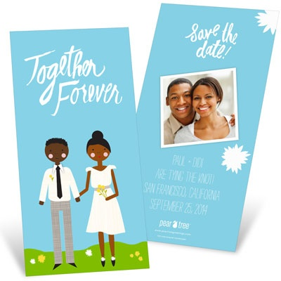 Color Us Happy Save the Date Cards