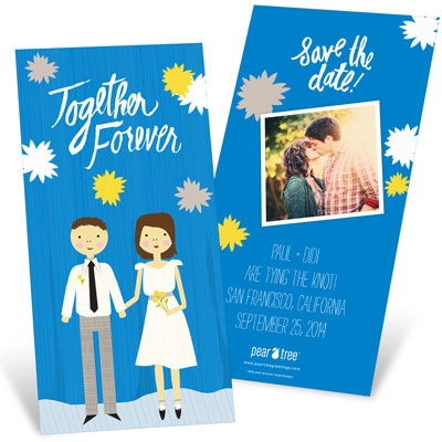Color Us In Love Save the Date Cards