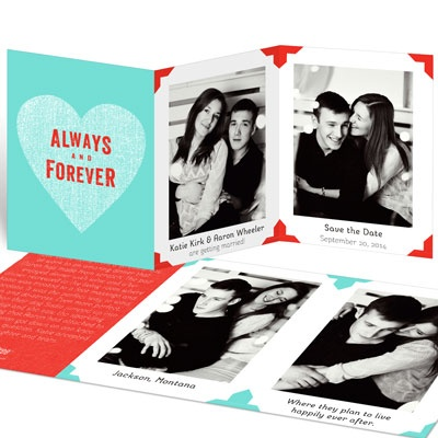 Vintage Photo Album Save the Date Cards
