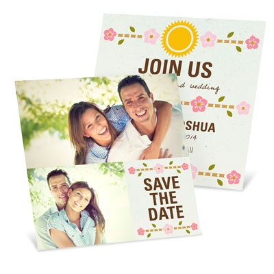 Sun & Flowers Save the Date Cards