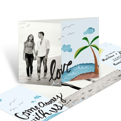Come Away Save the Date Cards