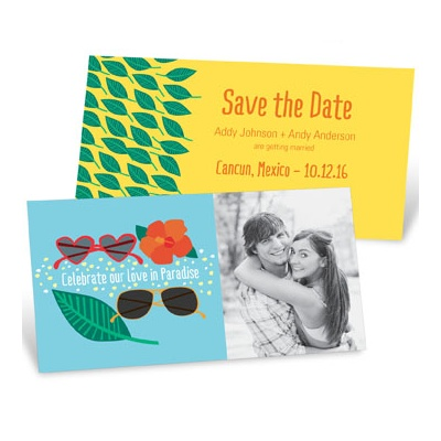 Love In Paradise Save the Date Cards