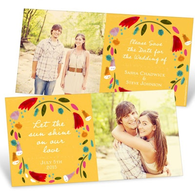 Summer Wreath Save the Date Cards