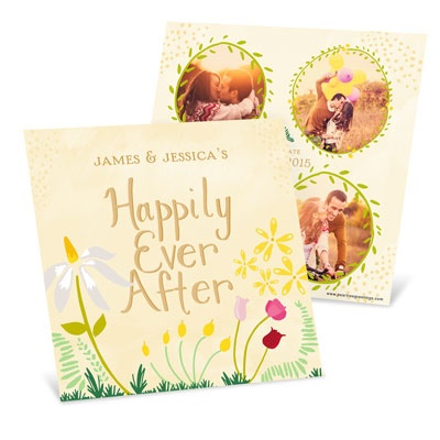 Spring Fairy Tale Save the Date Cards