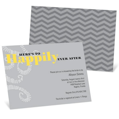 Happily Every After Bridal Shower Invitations