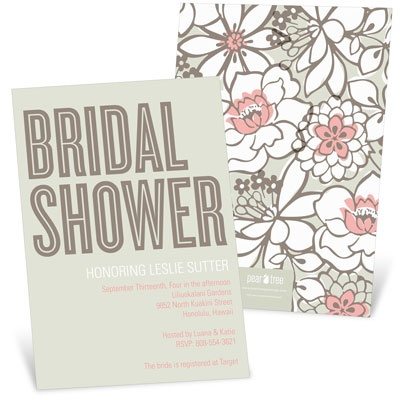 Blissful Blooms Bridal Shower Invitations