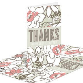 Blissful Blooms -- Bridal Shower Thank You Cards