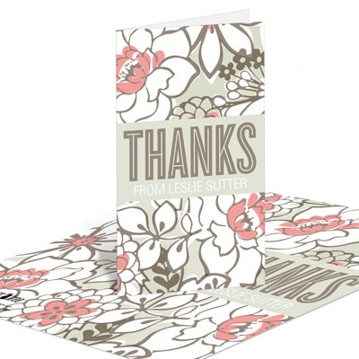 Blissful Blooms Bridal Shower Thank You Cards