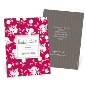 Fresh Blooms -- Bridal Shower Invitations